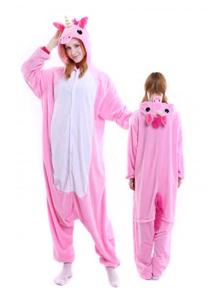 Combinaison Pyjama Rose Licorne Animaux Déguisement Onesie