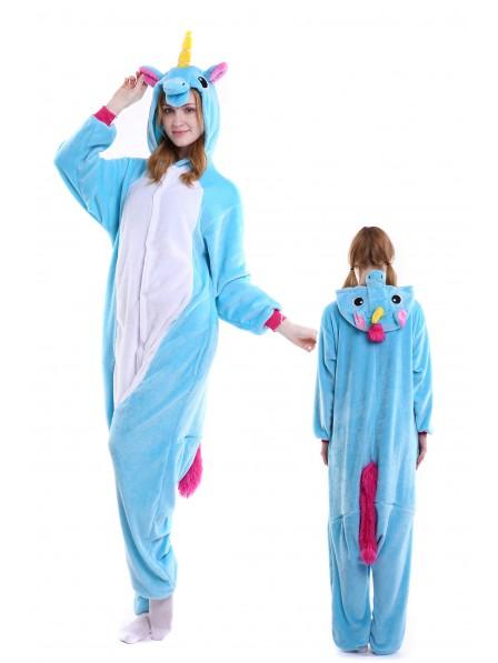 Combinaison Pyjama Bleu Licorne Animaux Déguisement Onesie