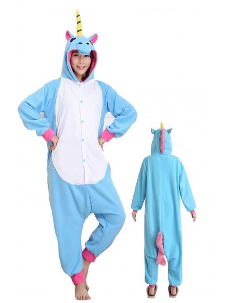 Combinaison Pyjama Bleu Licorne Animaux Déguisement Costumes