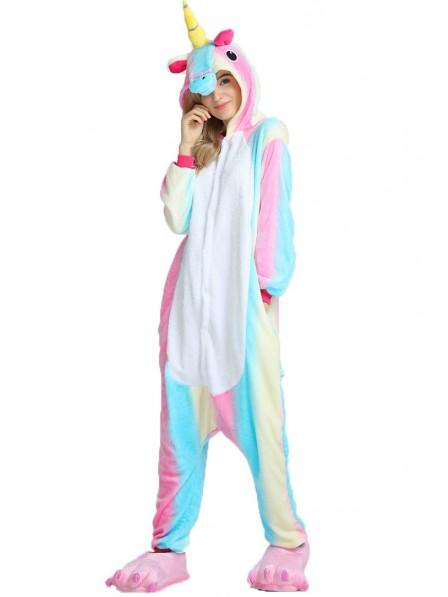Combinaison Pyjama Colorful Licorne Animaux Déguisement Flanelle