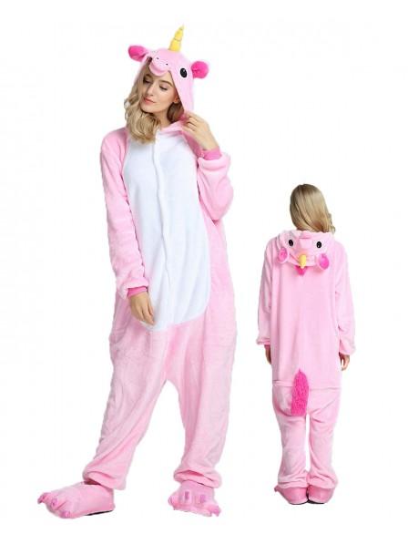 Combinaison Pyjama Rose Licorne Animaux Déguisement Halloween