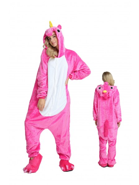 Combinaison Pyjama Rose Licorne Animaux Déguisement Adultes