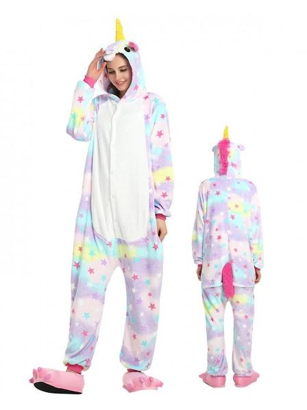 Combinaison Pyjama Star Licorne Animaux Déguisement Flanelle