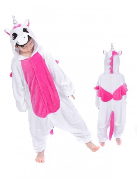 Combinaison Pyjama Rose Licorne With Wings Animaux Déguisement Enfants