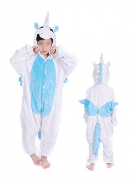 Combinaison Pyjama Bleu Licorne Animaux Déguisement Halloween