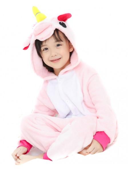 Combinaison Pyjama Rose Licorne Animaux Déguisement Enfants