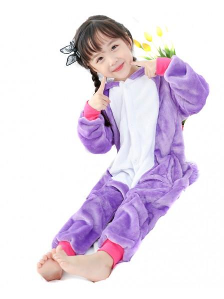 Combinaison Pyjama Violet Licorne Animaux Déguisement Enfants