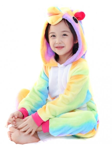 Combinaison Pyjama Rainbow Licorne Animaux Déguisement Enfants