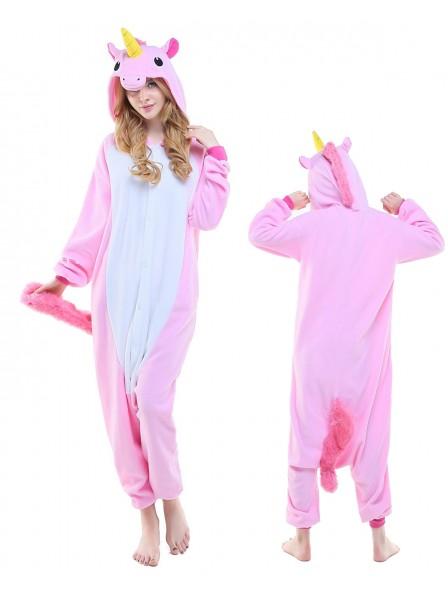 Combinaison Pyjama New Rose Licorne Animaux Déguisement Polaire