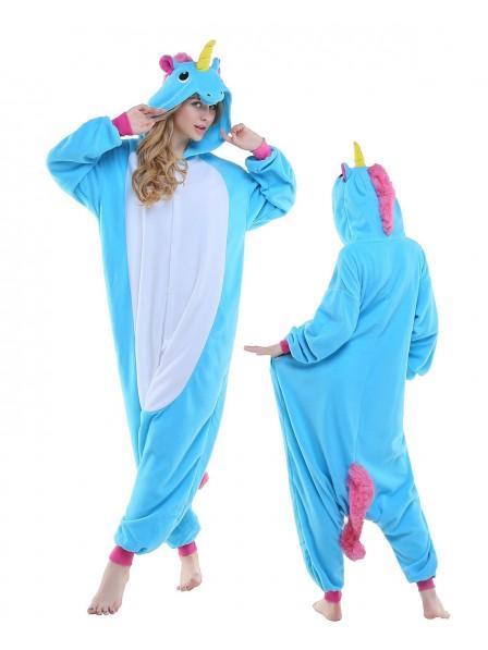 Combinaison Pyjama New Bleu Animaux Déguisement Polaire
