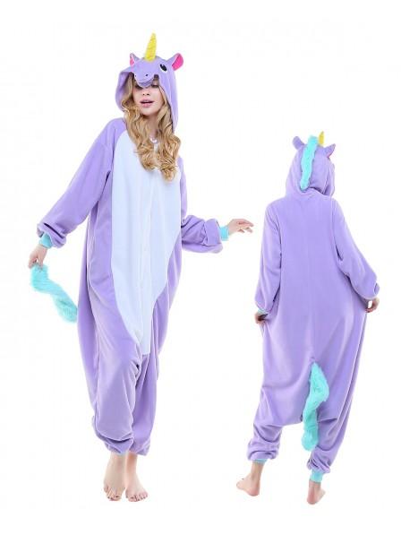 Combinaison Pyjama New Violet Licorne Animaux Déguisement Polaire