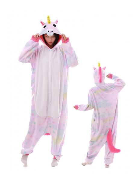 Combinaison Pyjama Pastel Dream Licorne Animaux Déguisement Polaire