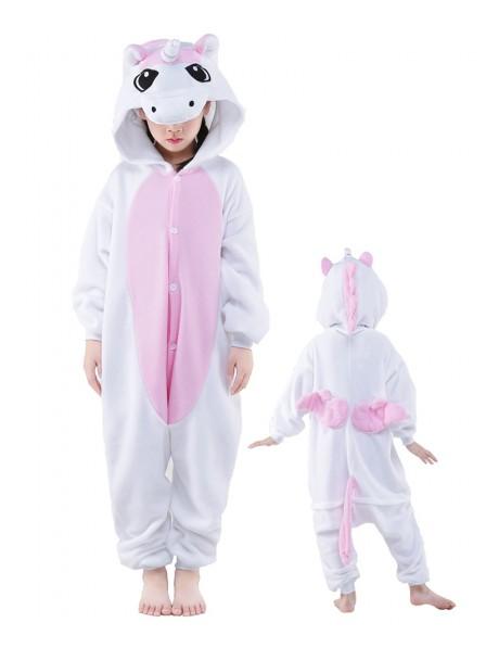 Combinaison Pyjama Rose Licorne Animaux Enfants