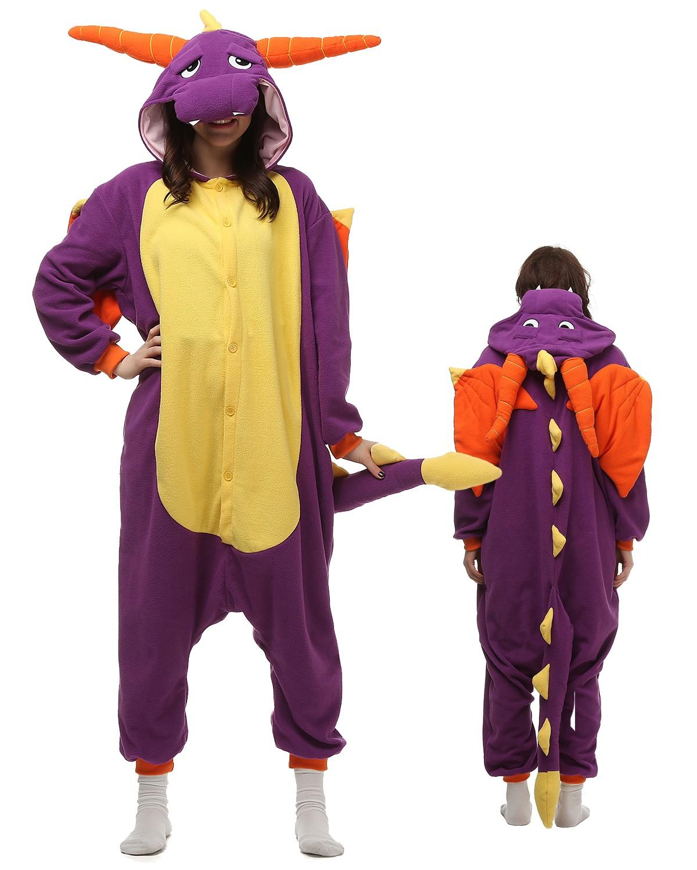 site réputé a5be0 9509f Combinaison Pyjama Violet Dragon Animaux Déguisement Polaire ...